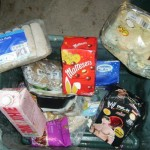 Unused food all within date found in a bin