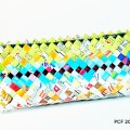 Recycled crisp packet pencil case/clutch bag