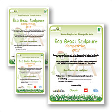 Eco Beast Sculpture competition posters