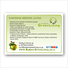 Sussex Greener Living Services offered poster