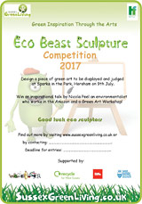 Download the Eco Beast Sculpture competition poster and briefing document