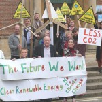Grandparents, parents & children sharing 'The Future We Want' in Chichester