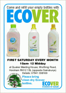 Ecover refills in Horsham