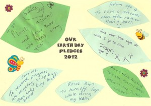 Earth Day Pledges 2012