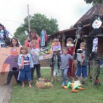recycled scarecrows