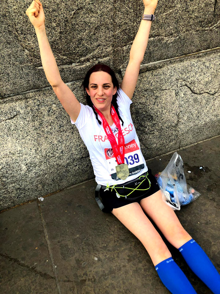 Francescas Woodshed runs London Marathon for Mother Earth!